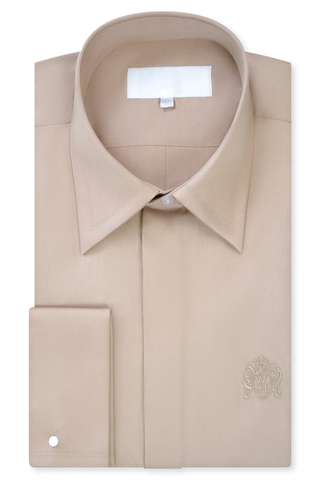 Sand Forward Point Collar Shirt