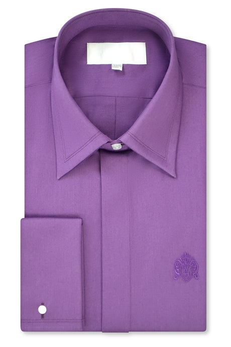 Mauve Purple Forward Point Collar Shirt with Matching Tie