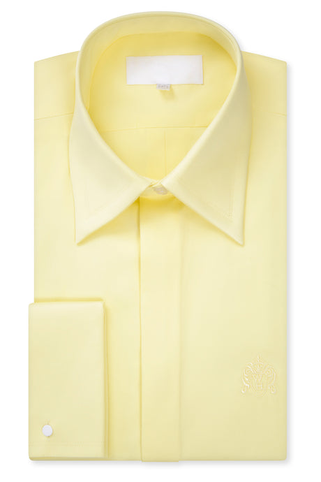 Lemon Yellow Forward Point Collar Shirt with Matching Tie