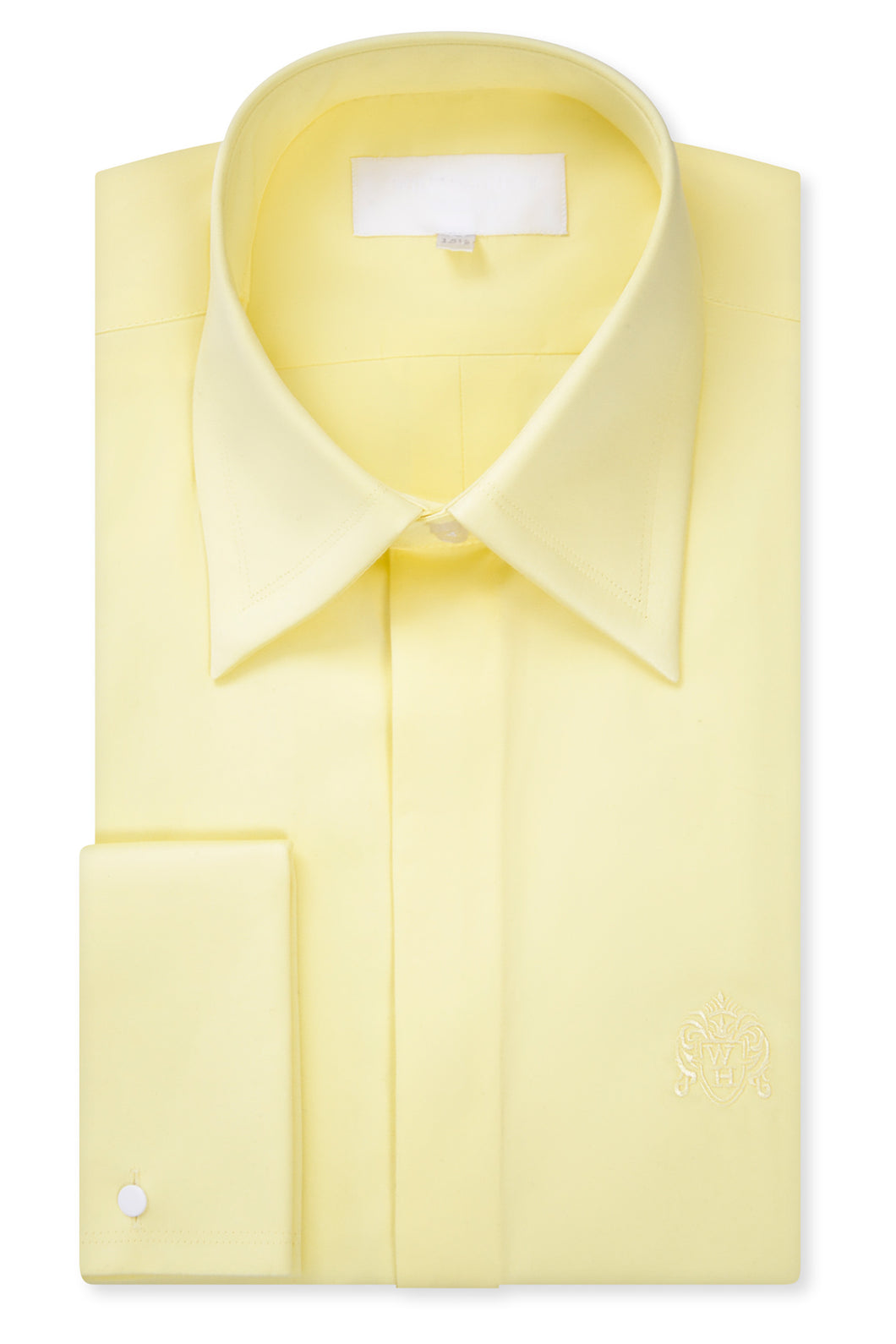 Yellow Forward Point Collar Shirt