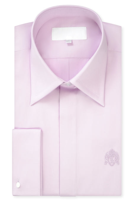 Washed Lilac Forward Point Collar Shirt with Matching Tie