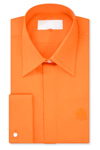Tangerine Orange Forward Point Collar Shirt