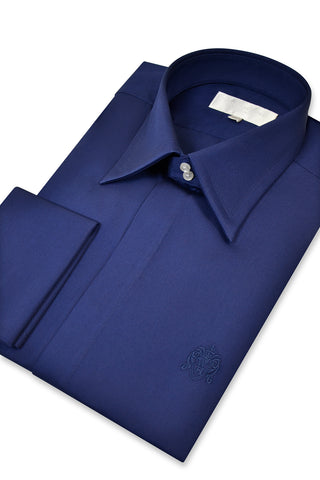 Oxford Blue Forward Point Collar Shirt with Matching Tie