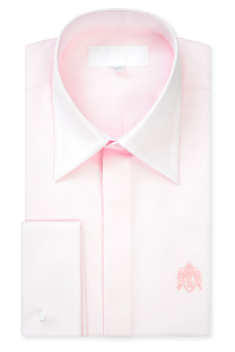 Pale Pink Forward Point Collar Shirt with Matching Tie