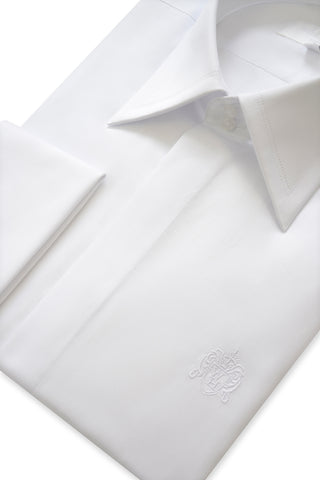 Classic White Forward Point Collar Shirt with Matching Tie