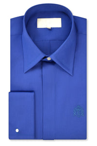 Peacock Blue Forward Point Collar Shirt with Matching Tie