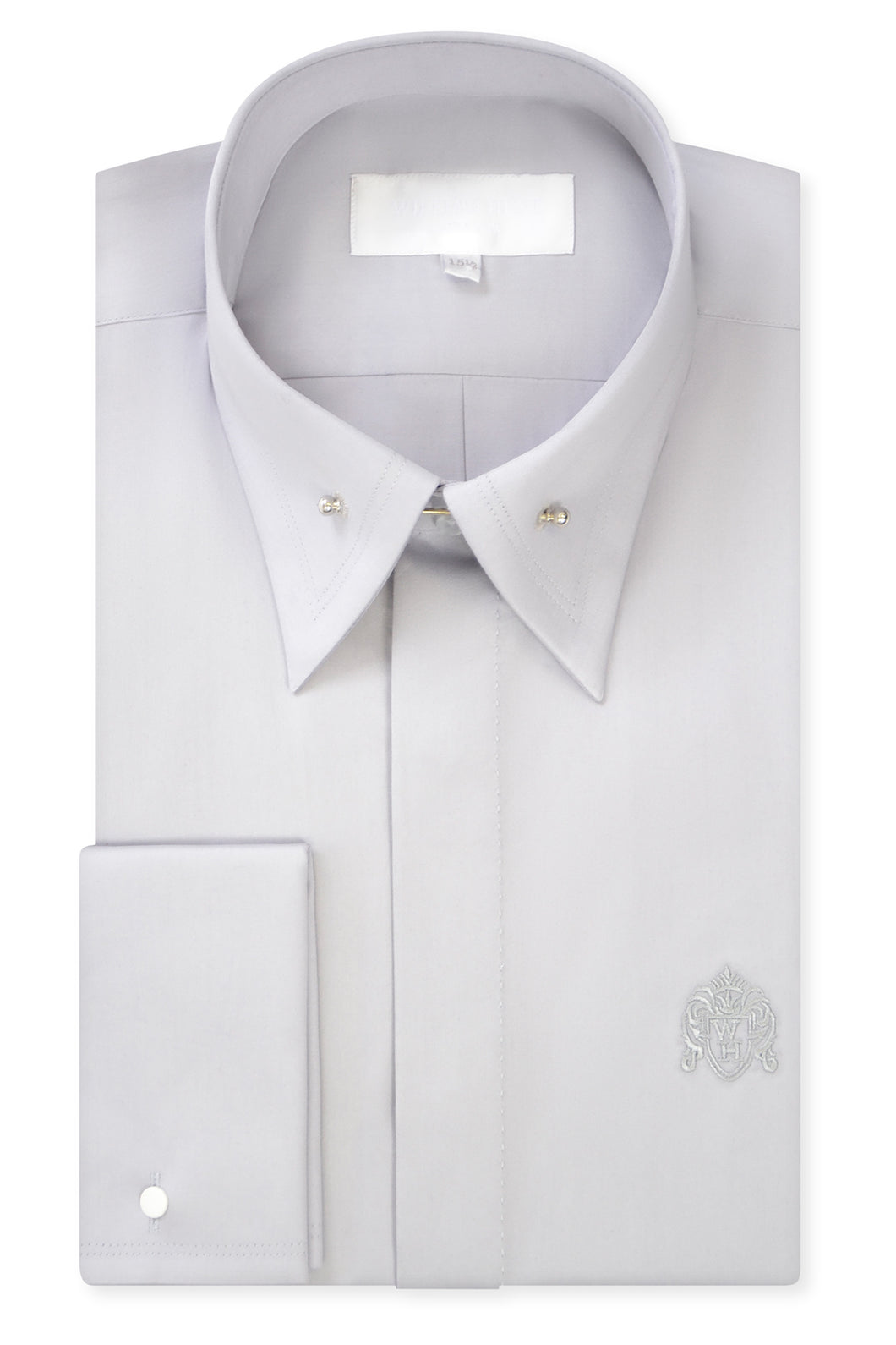 Grey Point Pin Collar Shirt