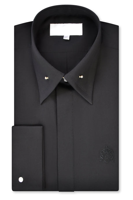 Black Point Pin Collar Shirt