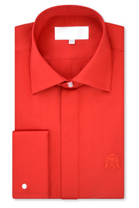 William Hunt Savile Row Rose Red Cutaway Collar Shirt