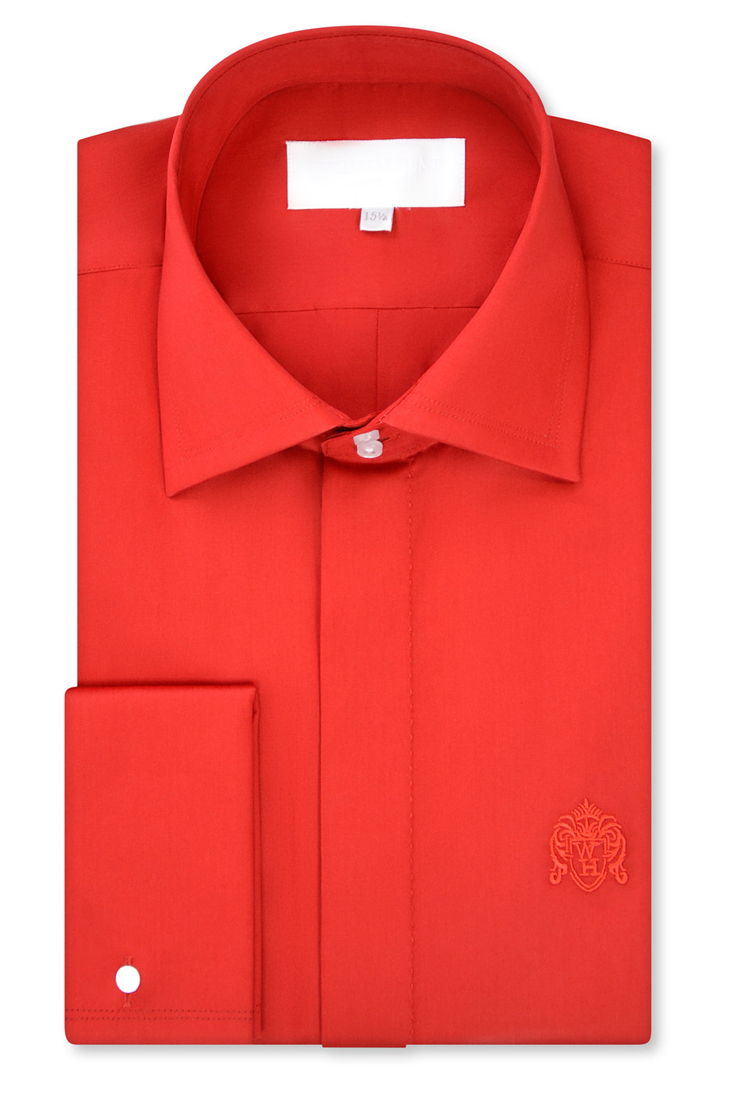 Red Cutaway Collar Shirt