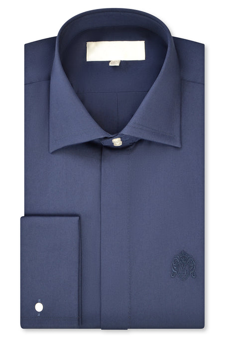 Oxford Blue Classic Cutaway Collar Shirt