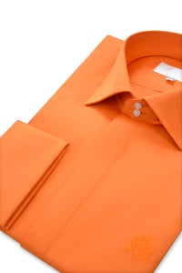 Tangerine Orange Cutaway Collar Shirt