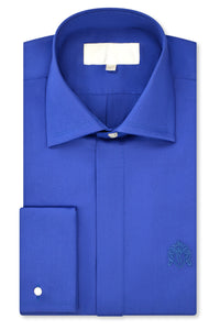 Royal Blue Cutaway Collar Shirt