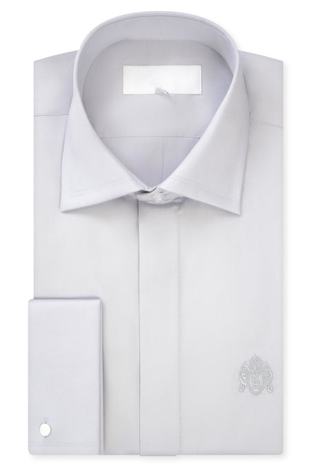 Putty Grey Cutaway Collar Shirt