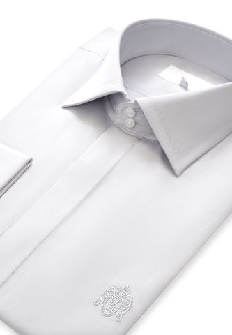 Grey Cutaway Collar Shirt