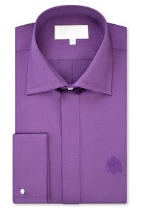 Purple Cutaway Collar Shirt