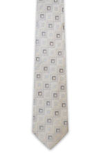 Silver Square Silk Tie - William Hunt Savile Row  - 1