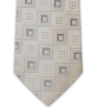 Silver Square Silk Tie - William Hunt Savile Row  - 2