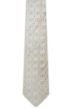 Gold Cream Square Silk Tie - William Hunt Savile Row  - 1