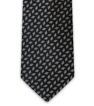 Charcoal Geometric Silk Tie - William Hunt Savile Row  - 2