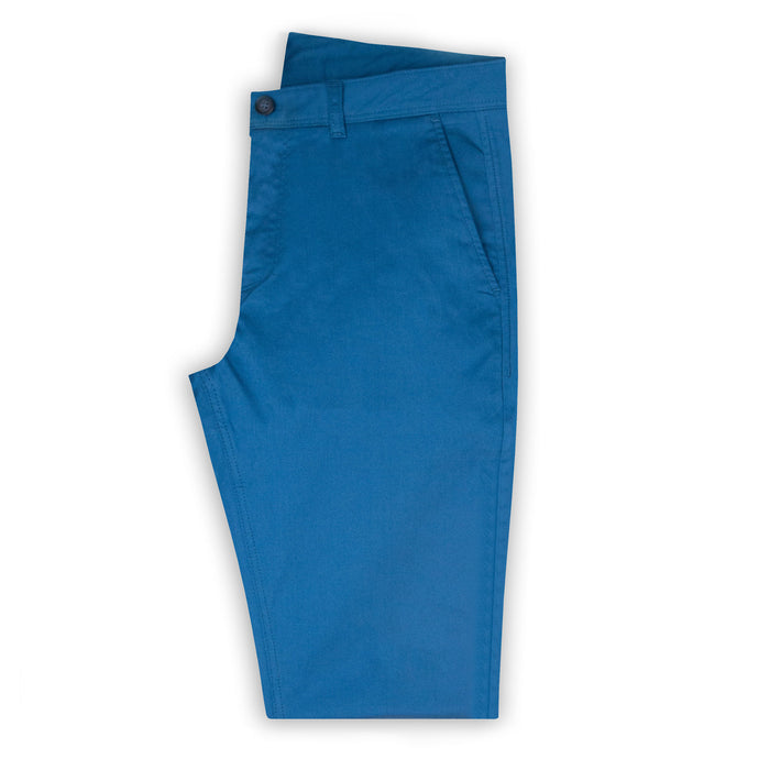 Petrol Blue Bedford Cord Chino Trouser