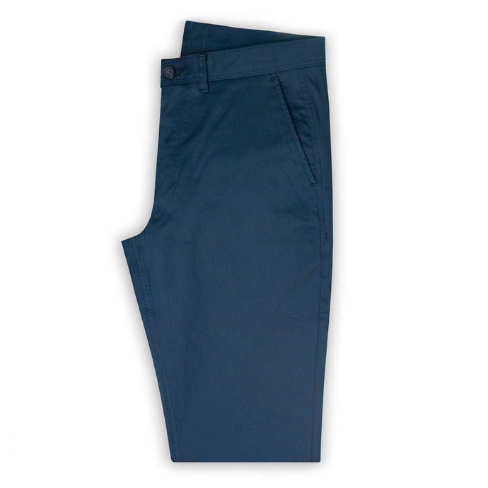Navy Bedford Cord Chino Trouser