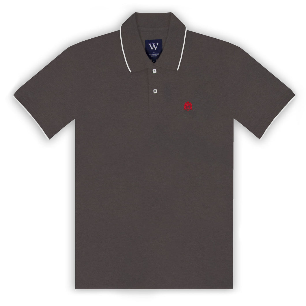 Charcoal with White Tipping Polo