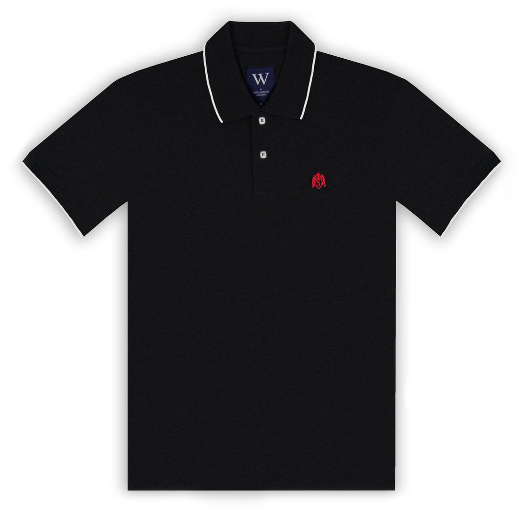 Black with White Tipping Polo