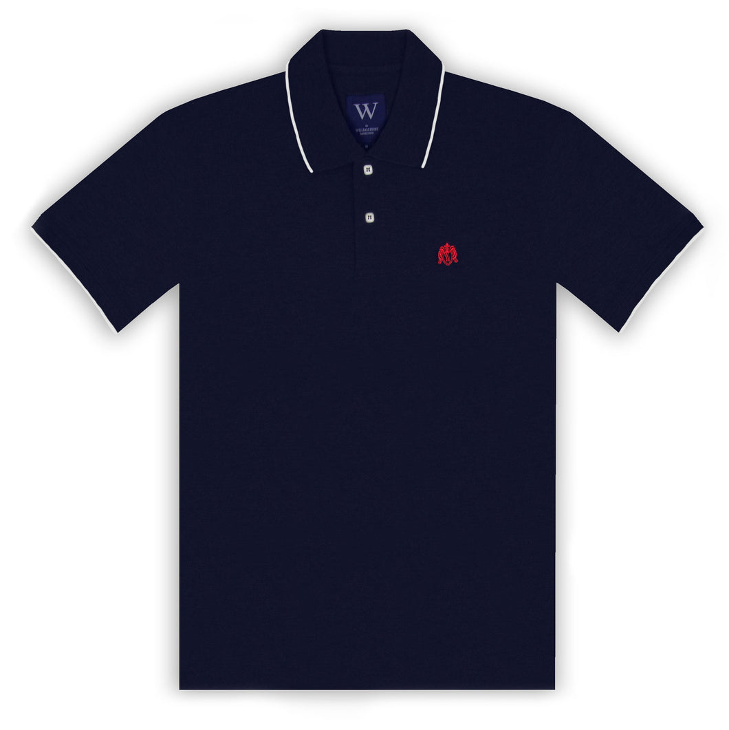 Navy with White Tipping Polo