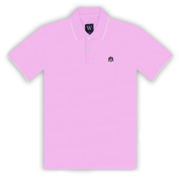 Pink with White Tipping Polo