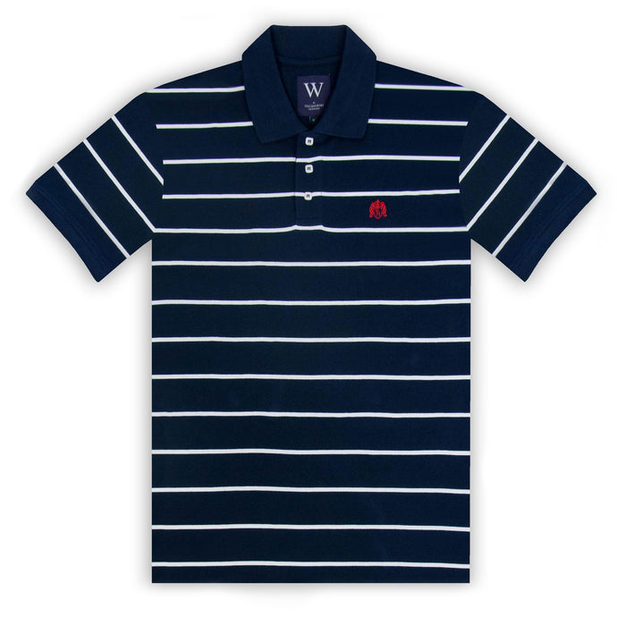 Navy with Thin White Stripe