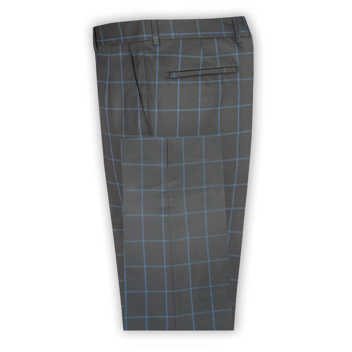 Black with Sky Check Trouser