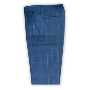 Navy with Sky Check Trouser