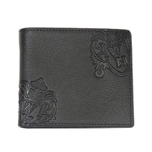 Black With Blue Inner WH Wallet Front