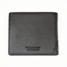 Black With Blue Zip Inner WH Wallet Back