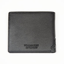 Black With Brown Inner WH Wallet Back