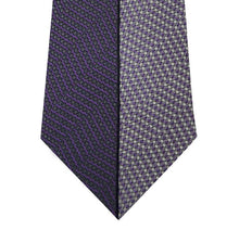 Two Tone Purple Vertical Stripe Silk Tie Close