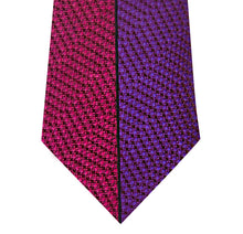 Pink and Purple Vertical Stripe Silk Tie Close