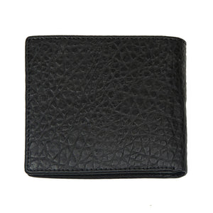Black Snake Design WH Wallet with inner Zip Pocket Back