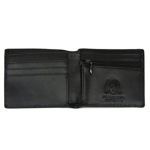 Black Snake Design WH Wallet with inner Zip Pocket Inside