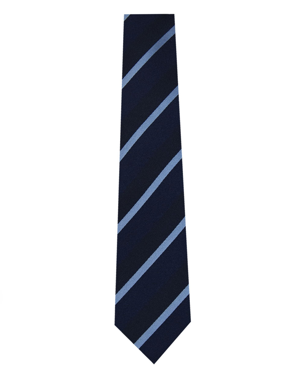 Navy on Blue Stripe Silk Tie