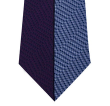 Purple and Blue Vertical Stripe Silk Tie Close