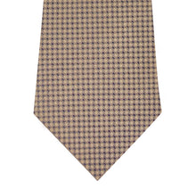 Gold and Sand Block Waffle Weave Silk Tie Close Up