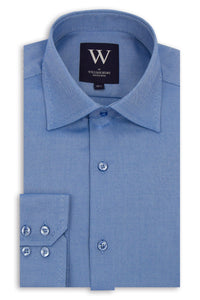 Blue Cutaway Collar Shirt