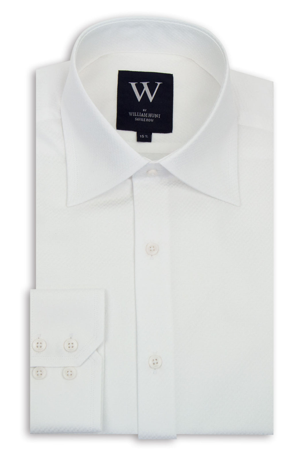 White Checkered Cutaway Collar Shirt