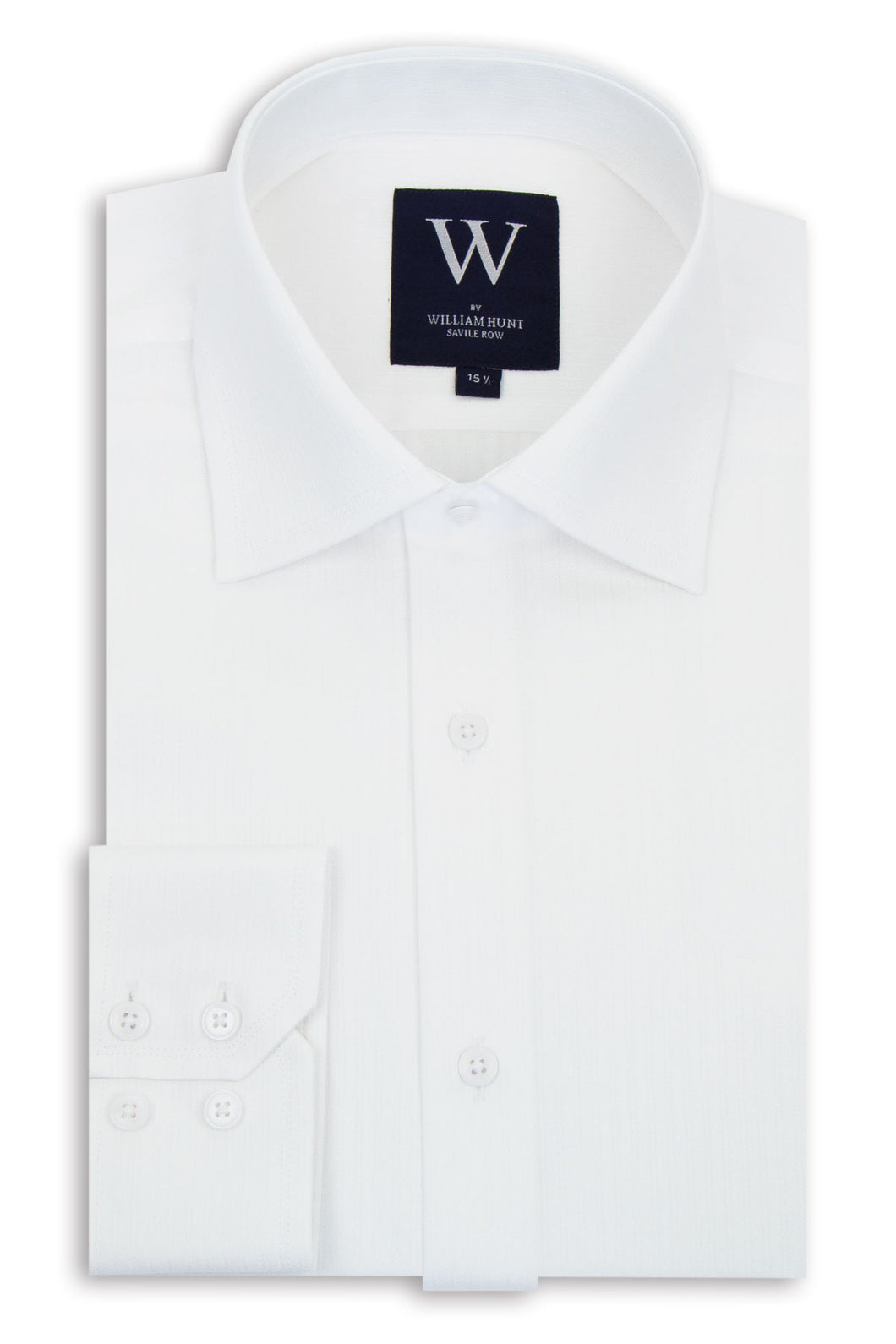 White Faint Stripe Cutaway Collar Shirt