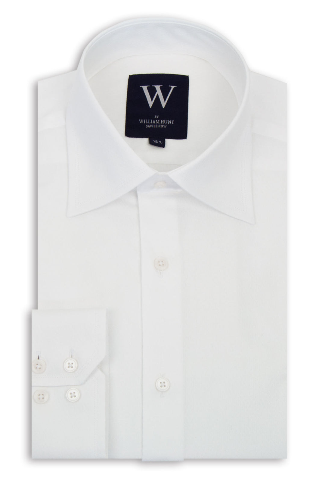 White Diamond Pattern Cutaway Collar Shirt