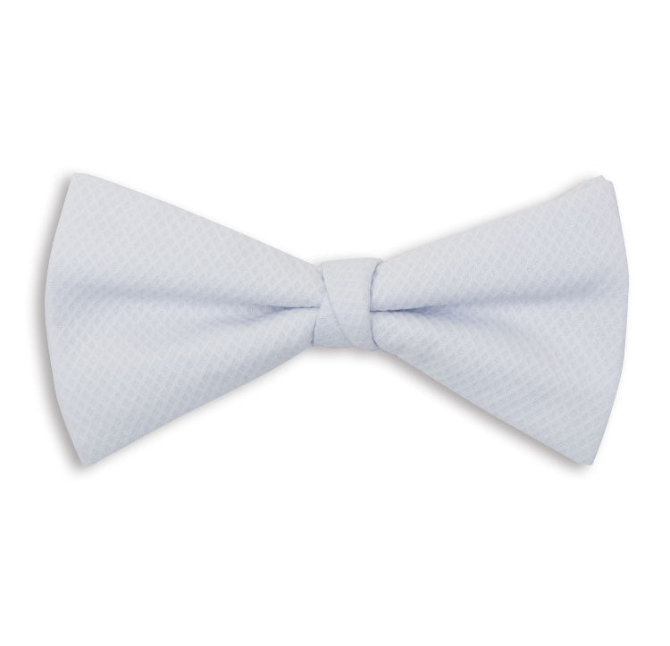 White Check Skinny Bow Tie