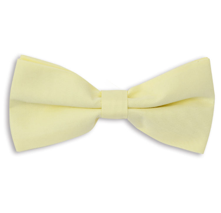 Yellow Plain Skinny Bow Tie