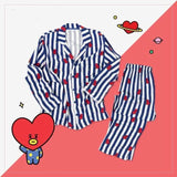 Bts X Bt21 Line Friends Pajamas - Tata / S - Bangtan Fashion